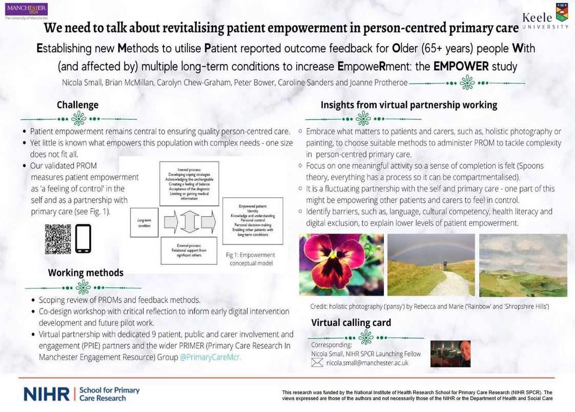 Poster which Nicola Small presented at the SAPC North